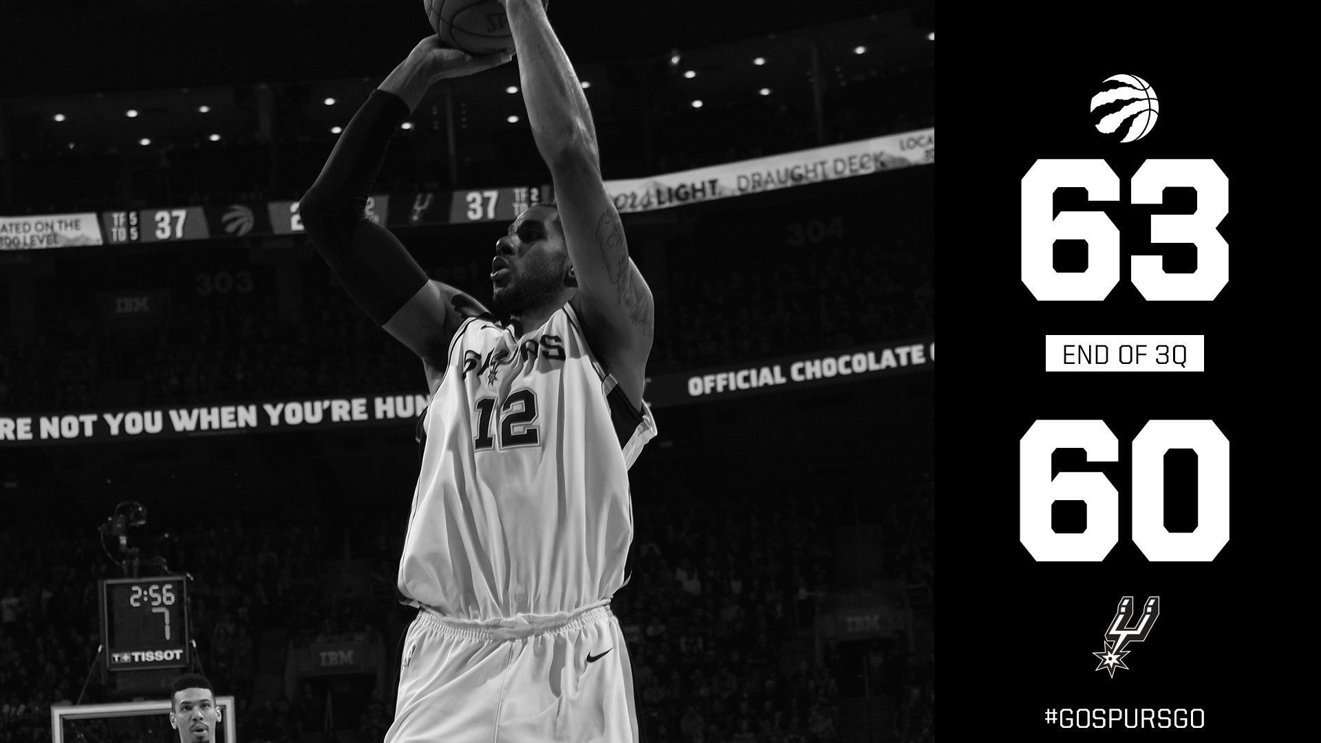 Fourth quarter coming up. #GOSPURSGO https://t.co/KDRkNSeC4N