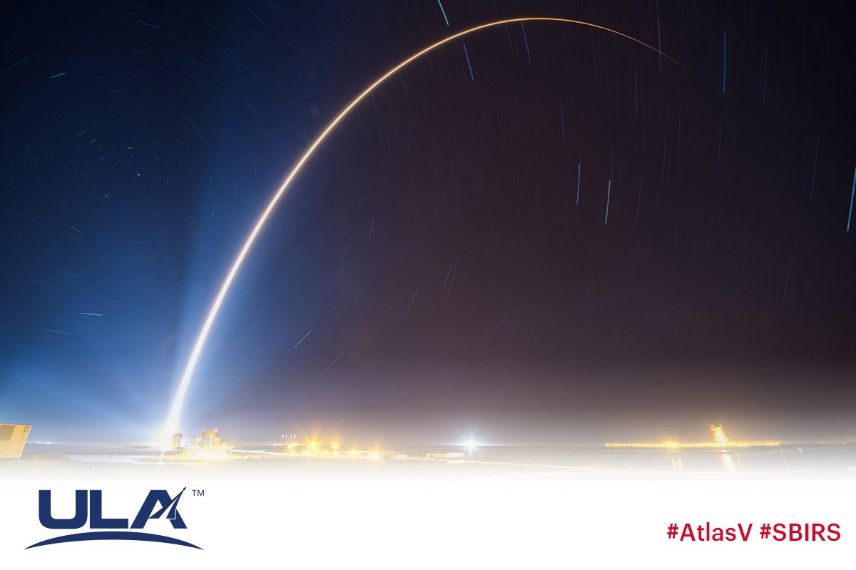 Mission success! #AtlasV launches #SBIRS GEO Flight 4 for the @usairforce as ULA kicks off 2018 with 2 launches from 2 coasts in just 1 week! https://t.co/ybYMXvupFn https://t.co/raZLtv8twM
