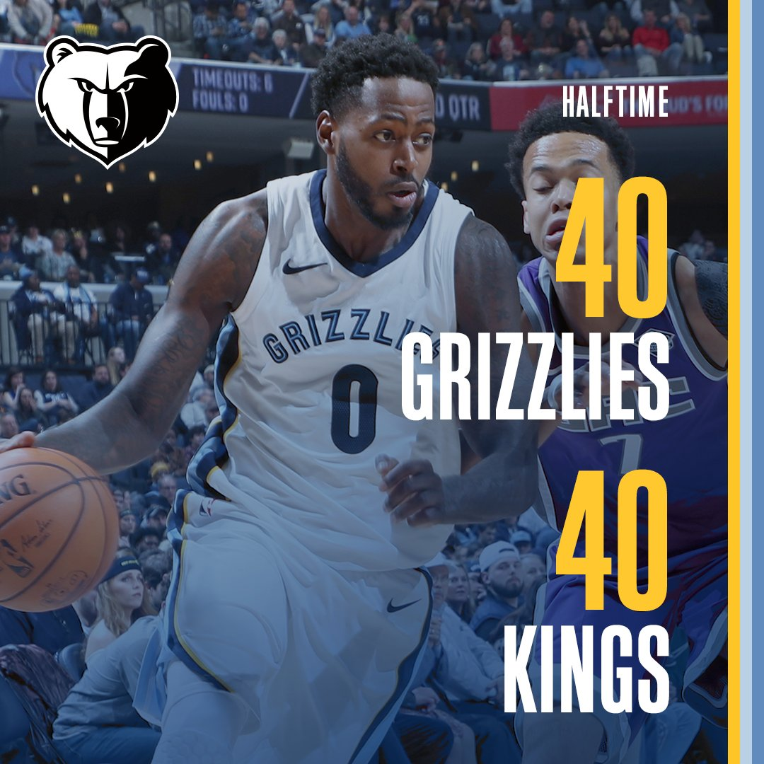 All tied up at the half  #MEMvSAC https://t.co/dFDICsL81S