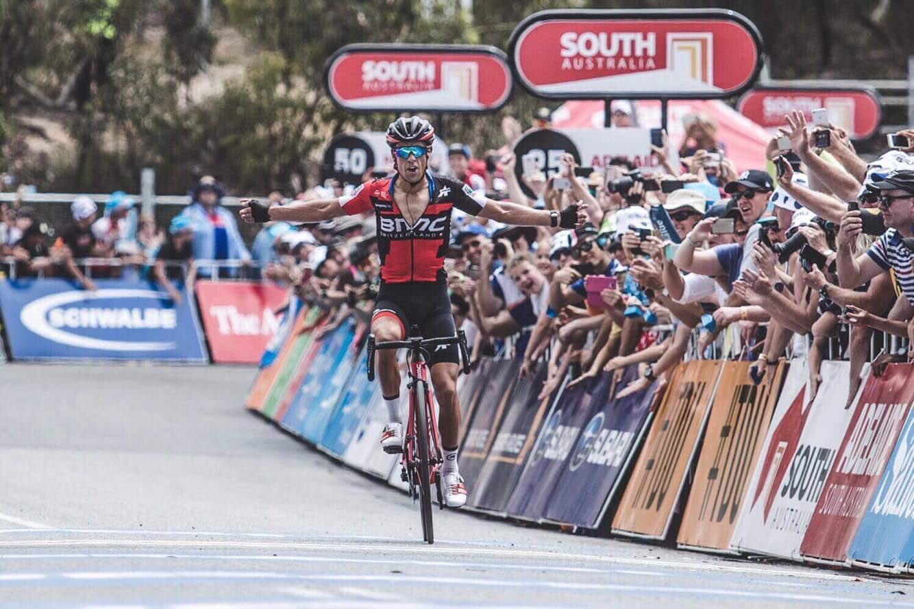 Willunga #5, most painful yet! Thanks @BMCProTeam guys for setting it up and to the thousands lining the climb you're awesome! #DontCrackUnderPressure 📷 @ChrisAuldPhoto https://t.co/vpZgHkT93C