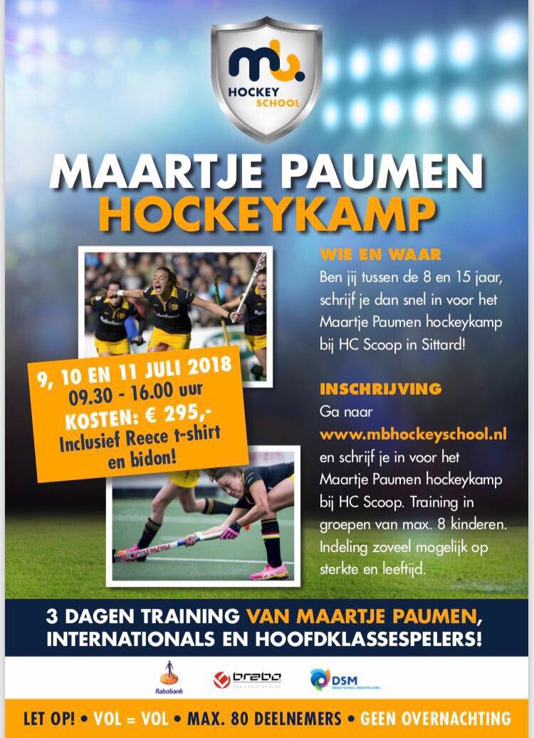 test Twitter Media - Yesss!!! Voor het 2e jaar op rij organiseer ik, samen met de @mbhockeyschool mijn eigen hockeykamp!!! Wie wil er 3 dagen training van mij?? Kom dan op 9/10/11 juli 2018 naar @hcscoop en we maken er samen drie onvergetelijke dagen van. Inschrijven kan via https://t.co/qh6Dd38mie https://t.co/ucZHCNoR8m