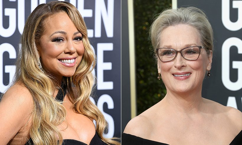 Mariah Carey stole Meryl Streep's seat at the Golden Globes!!