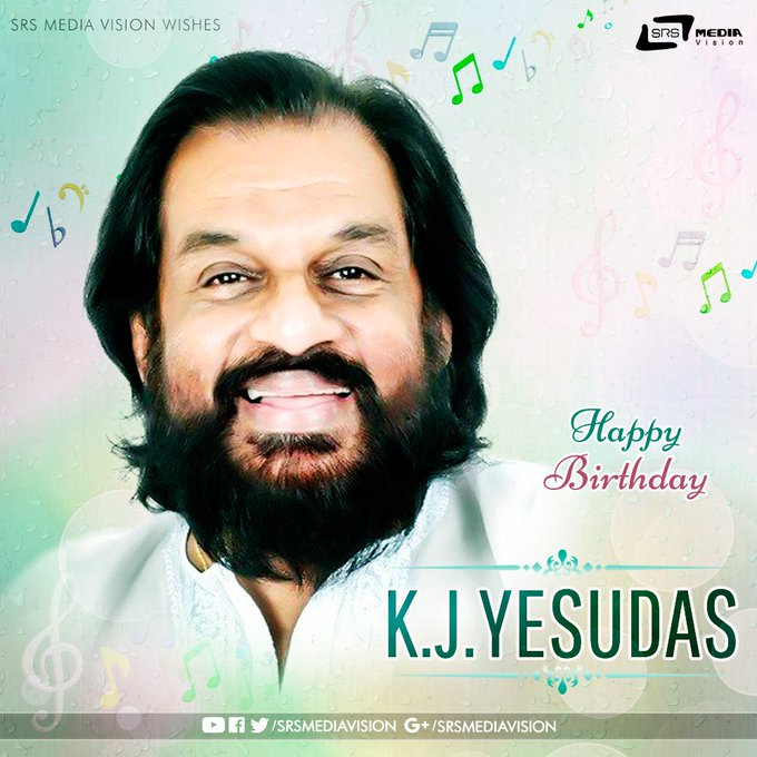 Wishing K.J Yesudas Sir a Very Happy Birthday !!!