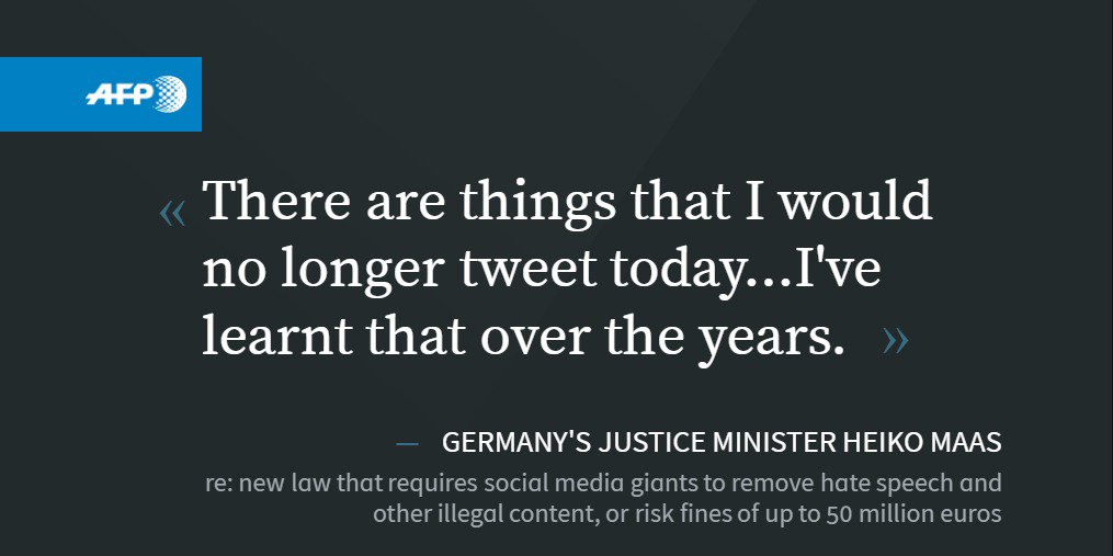 German justice minister victim of own social media law