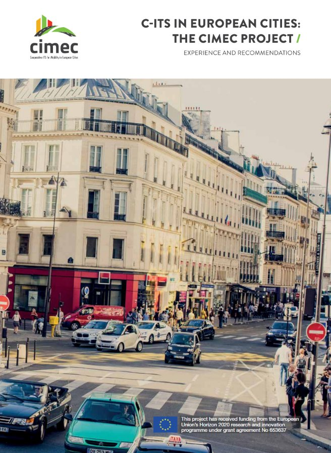 test Twitter Media - The @EU_H2020 project #CIMEC (Cooperative #ITS for #Mobility in European #Cities) has published a #booklet providing a round up of the main project findings on the subject of C-ITS deployment in cities: https://t.co/zSJ1jfcP64 https://t.co/x8vHyt6b5i