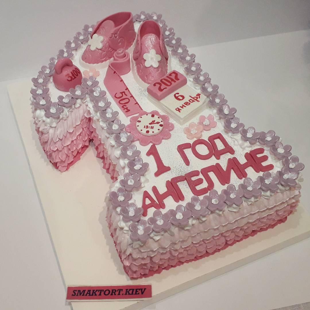 Фото тортов для детей на 1 годик без мастики