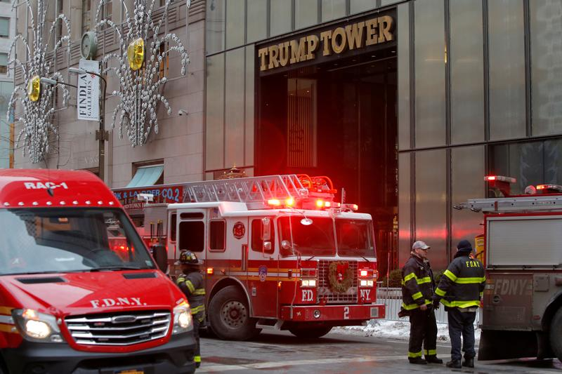 Three people injured in early-morning fire atop New York's Trump Tower, officials say: