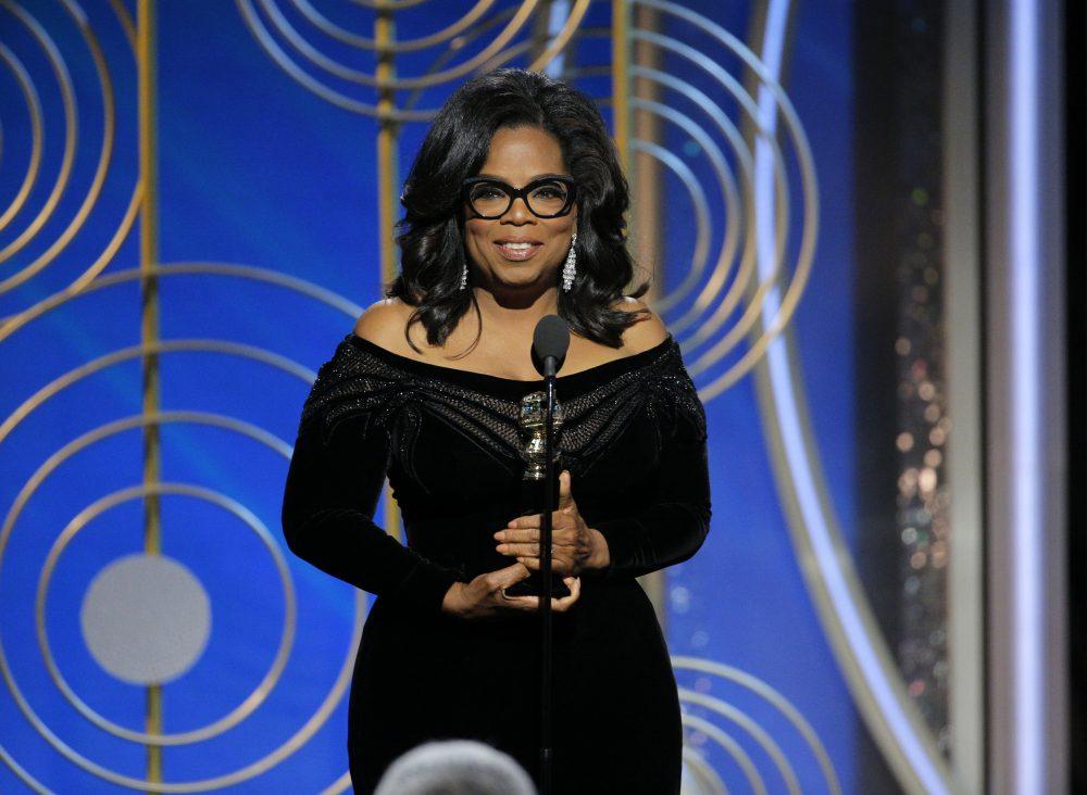 Oprah's hashtag moment at Golden Globes