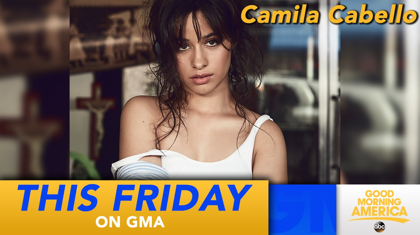 THIS FRIDAY: @Camila_Cabello performs LIVE on @GMA - right here in Times Square!  #CAMILAxGMA https://t.co/mRFjRUS7cs