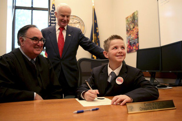 Oregon's 'kid governor' inaugurated, wants to stop bullying