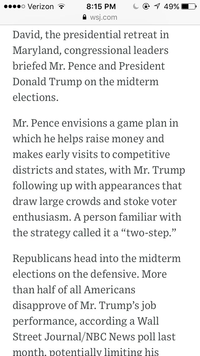 RT @KThomasDC: Pence + Trump are devising a