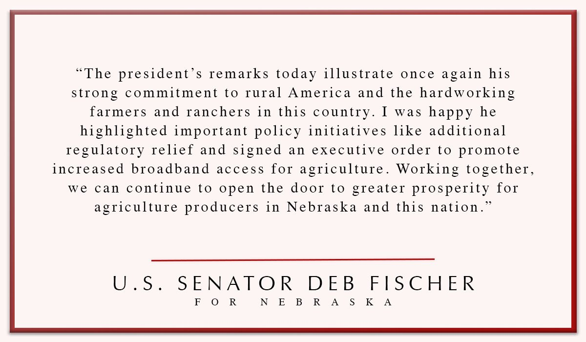 My full statement in reaction to @POTUS's speech at the @FarmBureau's convention today. #AFBF18 https://t.co/dCVciHjhSW