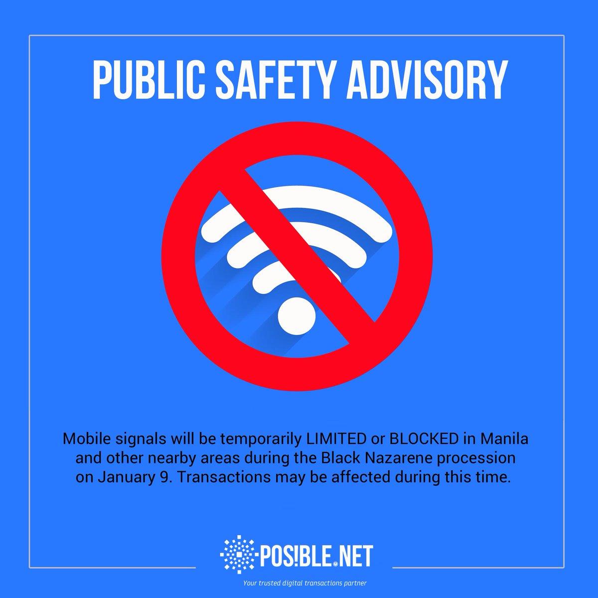 test Twitter Media - Mga Ka-POSIBLE: May temporary loss of mobile signal sa Maynila at mga kalapit-lugar dahil sa #Traslacion2018. Maaaring maapektuhan ang  transactions dahil dito. Para sa concerns: Landline: 8697761 | GLOBE: 09176281317 | 09176233106 | 09177047211  SMART: 09985896974 / 09985980078 https://t.co/UXc1tKDLkg