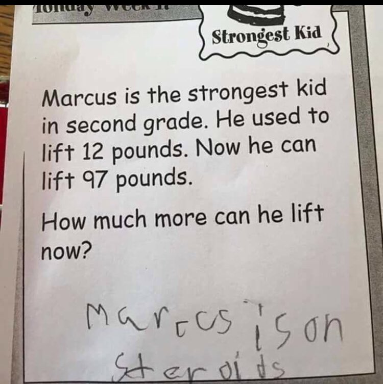 Rare picture of @NateDiaz209 homework from grade school https://t.co/wB9c4gyHny