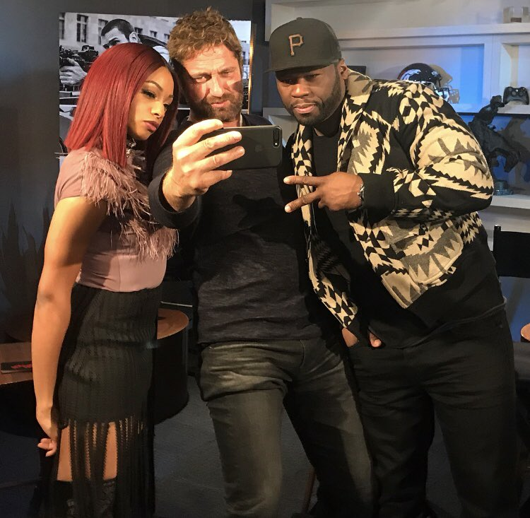 Million Dollar Selfie... ???? #DenOfThieves @50cent @gerardbutler @jmedia_ ????????????  Photo by @jbettis420 https://t.co/x6A8xmhIxQ