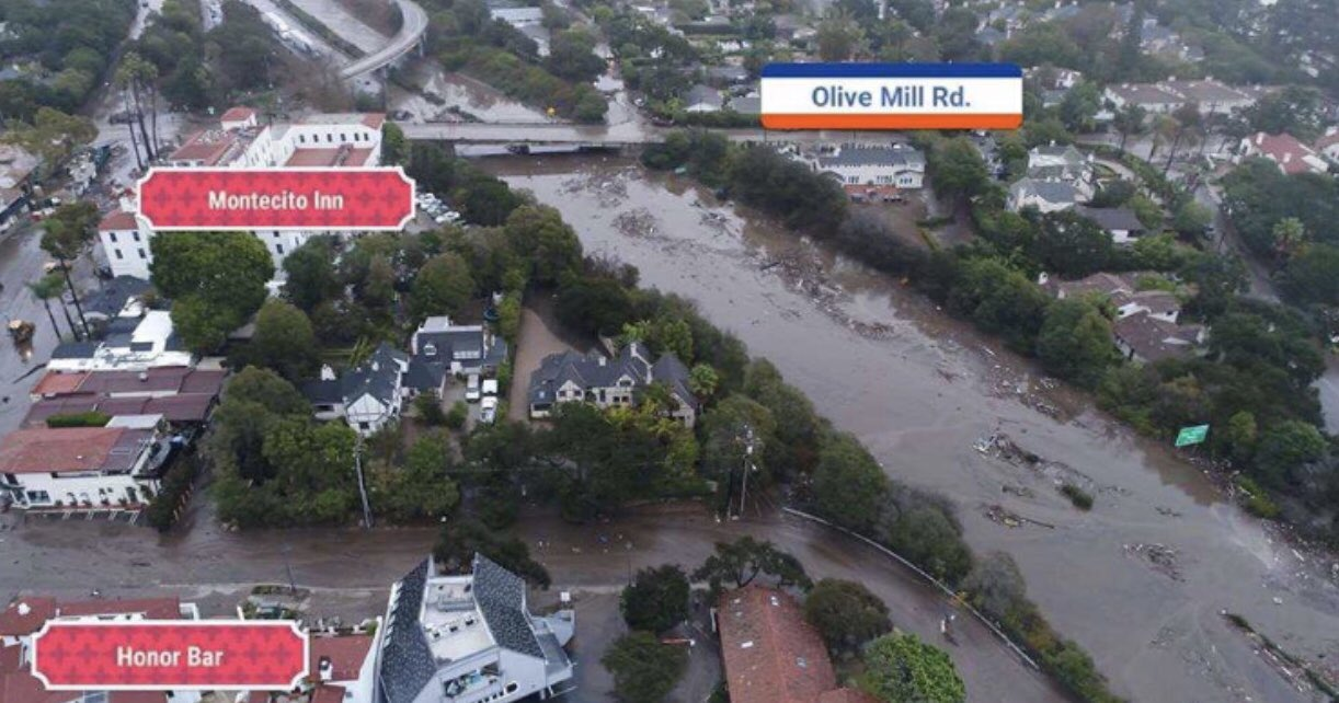 This is not a river. This is the 101 freeway in my neighborhood right now. Montecito needs your love and support. https://t.co/jRNCBrp4b5