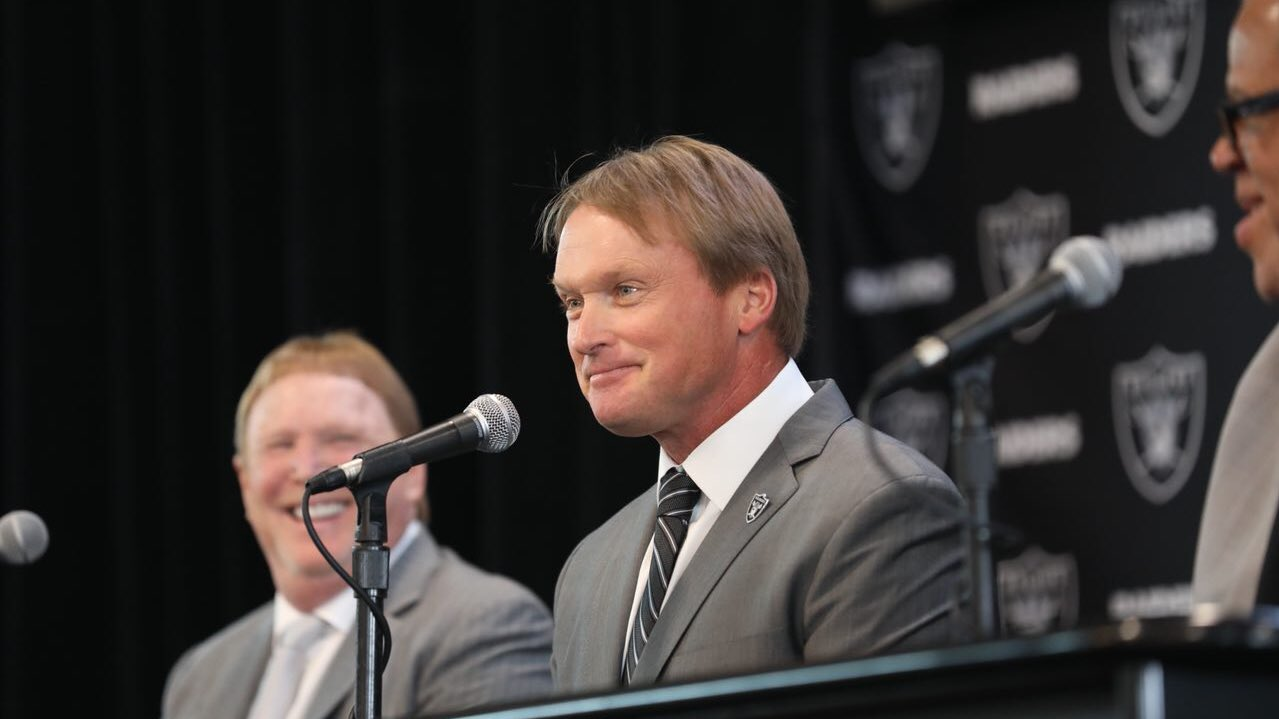"""I'm all-in.""  Coach Gruden is addressing the media live: https://t.co/wolSStHdwf https://t.co/gS9sVE6uSV"