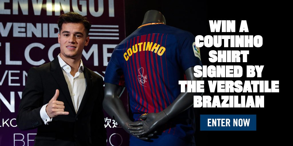 ���� Win a Barça shirt signed by new arrival @Phil_Coutinho.  Enter now! �� https://t.co/6DU4p4kGQ2 �� https://t.co/3uPJRjD7uv