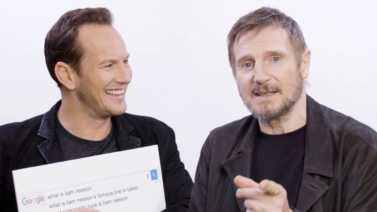Liam Neeson and Patrick Wilson answer the web's most searched questions about themselves https://t.co/iXxtQ5pGz9
