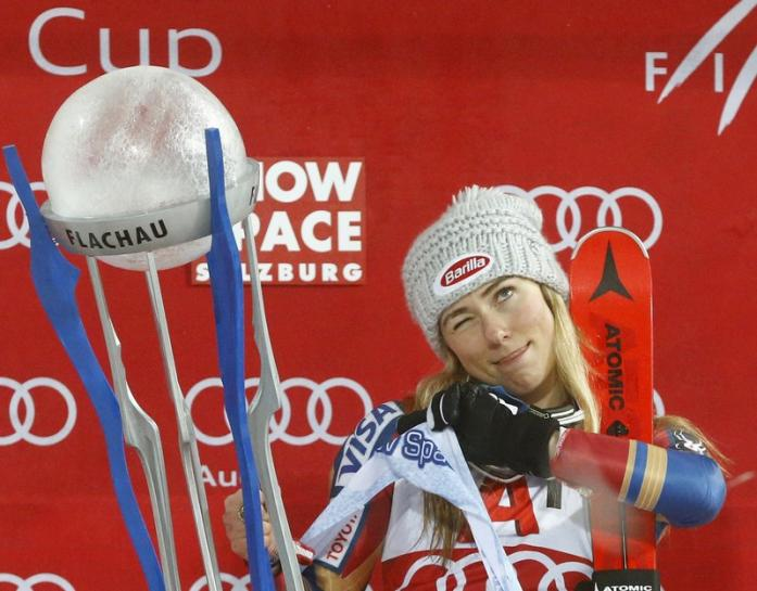 Alpine skiing: American Shiffrin wins fifth World Cup race in a row