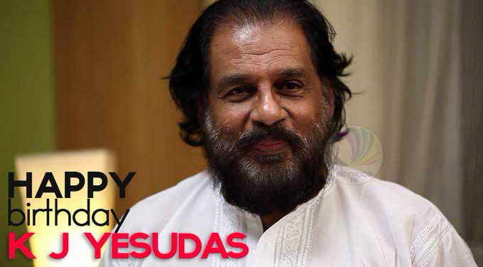wishing happy birthday to legend of Indian music Dr. K. J. Yesudas FOLLOW:
