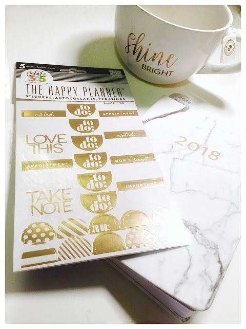 Marble Print Planner + Gold Foil To Do Stickers {Giveaway}