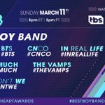 Meet the nominees for #BestBoyBand at the 2018 #iH...