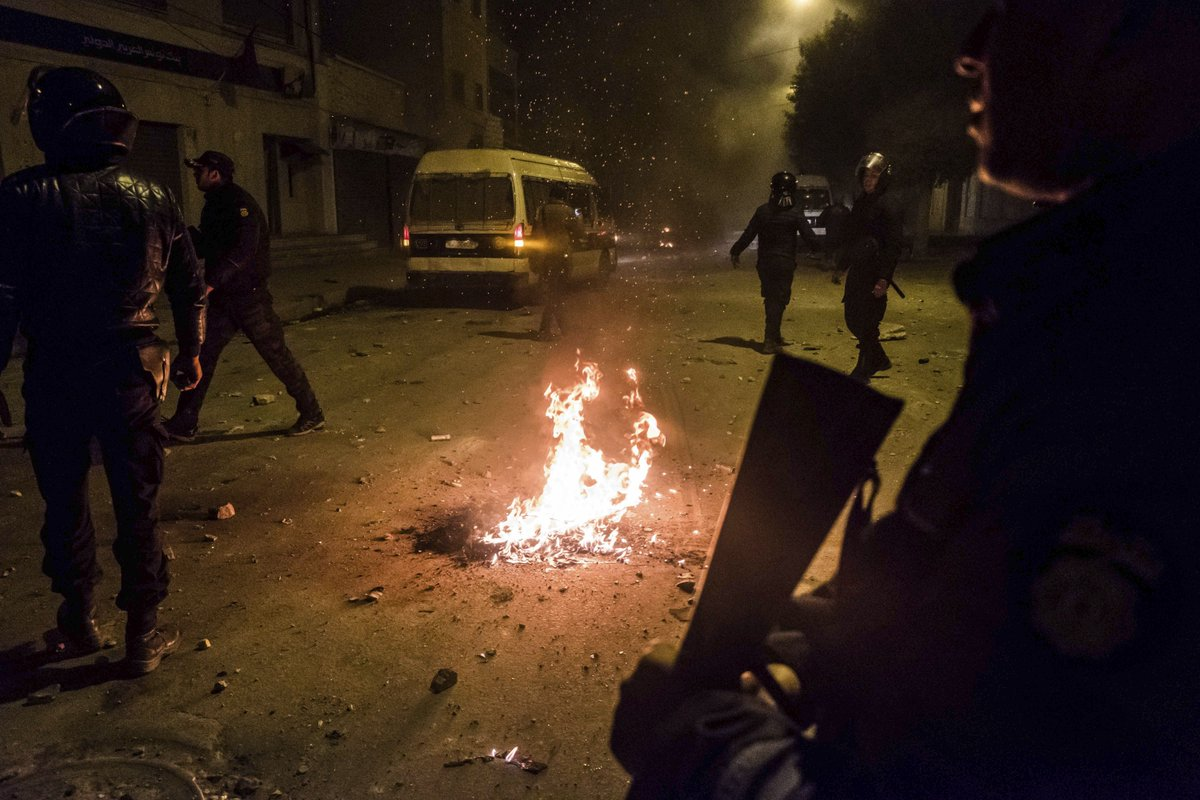 Protests turn violent in Tunisia over price hikes