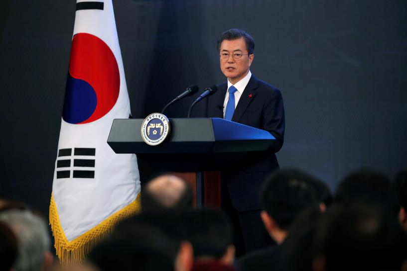 South Korea's Moon says Trump deserves 'big' credit for North Korea talks