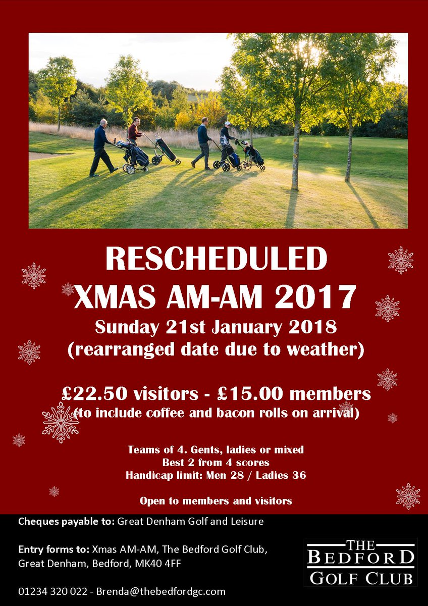 test Twitter Media - We still have a few spaces left if you would like to take part in our rearranged Christmas AM-AM. If you're interested please click the link to download an entry form or give us a call on 01234 320 022. https://t.co/pjG8xCeEPL https://t.co/a3W98Hg1Lm