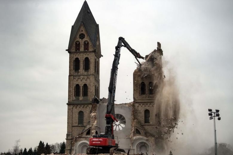 Germans outraged as historic church makes way for coal mine
