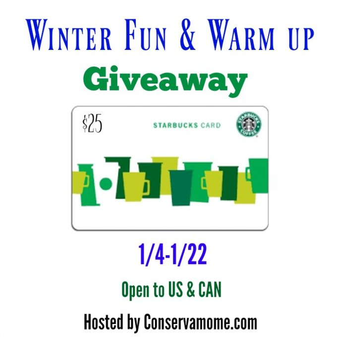 Winter Fun & Warm Up Giveaway -- Win a Starbucks Gift Card