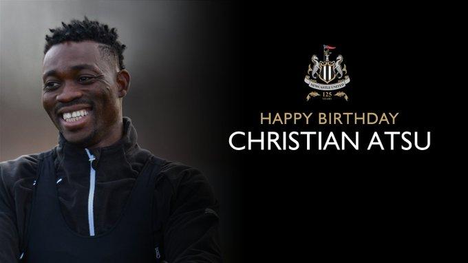Christian Atsu 26 ya  nda!  Do um günün kutlu olsun, Christian Atsu!  Happy birthday,