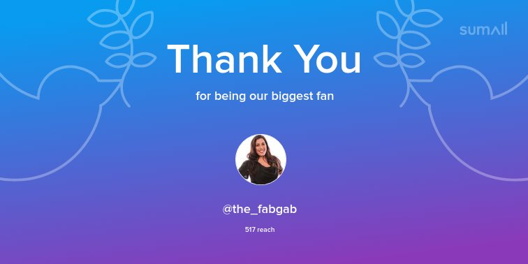 Our biggest fans this week: @the_fabgab. Thank you! via https://t.co/oRB2FGAhuX https://t.co/sl7zgWPWa2