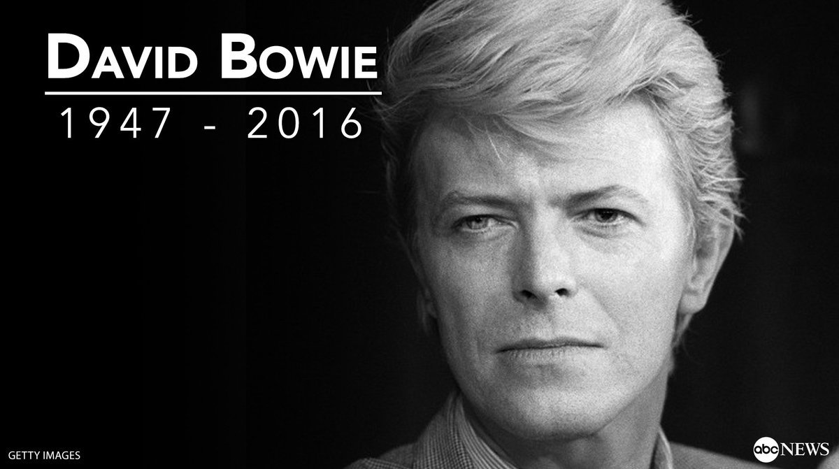 David Bowie died on this day two years ago. Rest in peace to a true entertainment icon... https://t.co/t1XIYT9Fi3