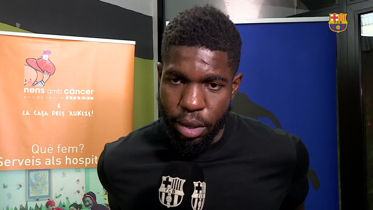 �� @samumtiti on his recovery from injury and new arrival @Phil_Coutinho  #ForçaBarça https://t.co/tik2jgCRL7