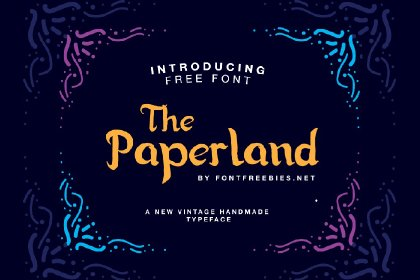 Paperland Free Display Typeface Display freebies design MarameStudio