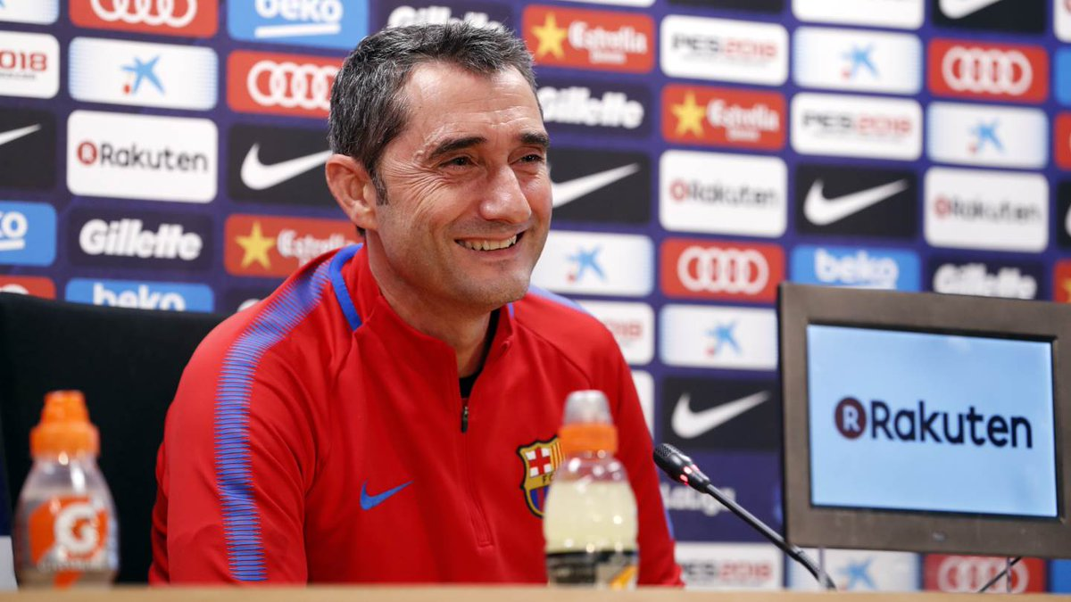���� [LIVE] Follow Ernesto Valverde's press conference ▶ https://t.co/YLukx4kR2f ������ #CopaBarça https://t.co/TsSAIJnKn1