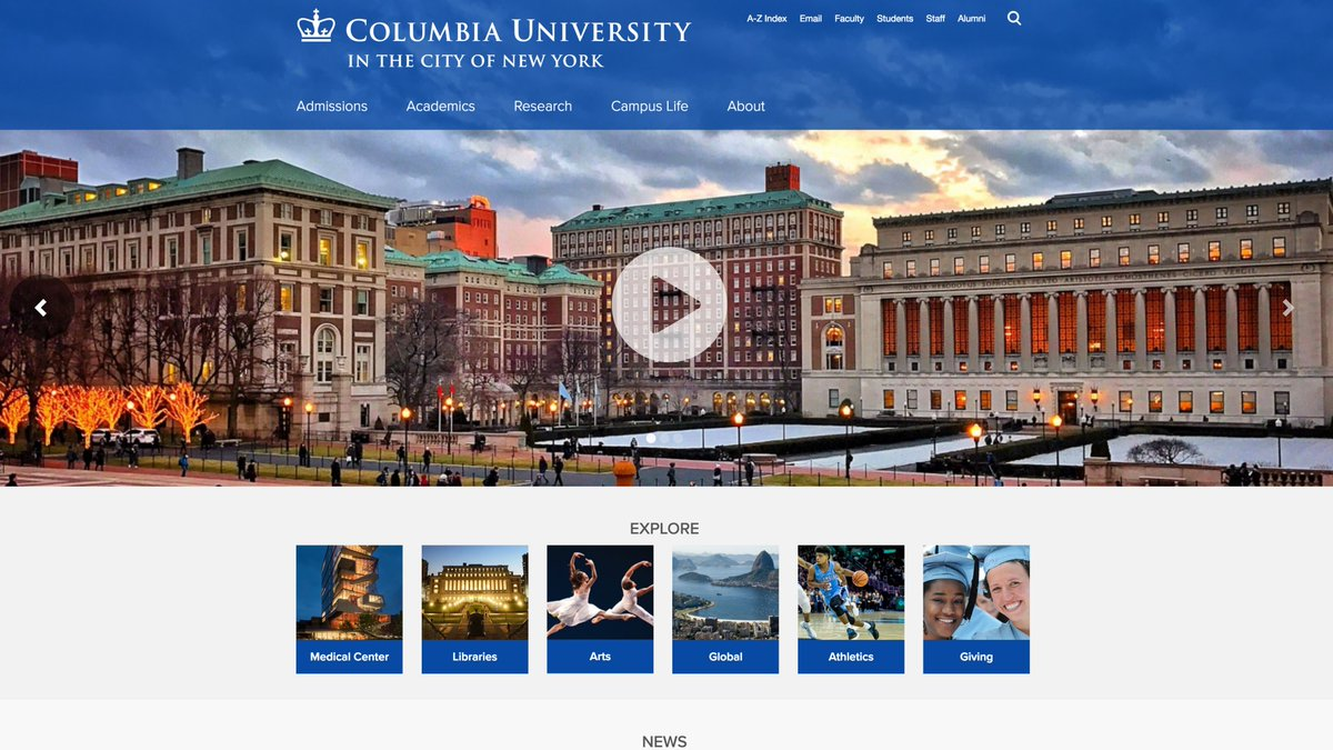 Columbia launched its new home page today: https://t.co/YWd5l0VHta https://t.co/JwliDTb7Ac