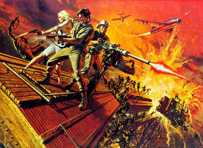 Happy Birthday Rod Taylor - DARK OF THE SUN - 1968 - Frank McCarthy art