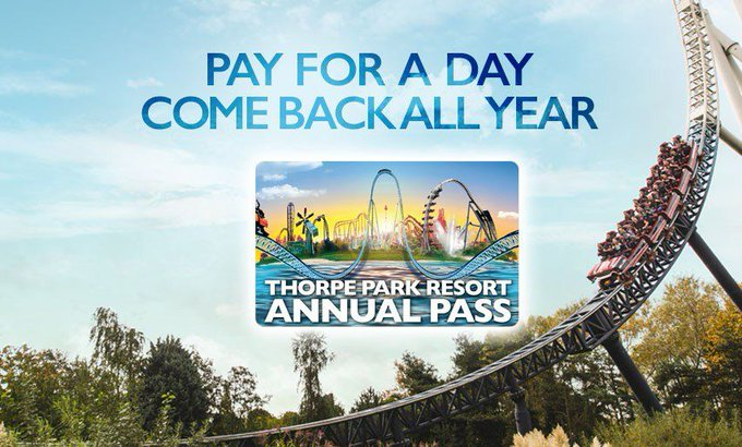 THORPE PARK Resort Annual Pass Giveaway