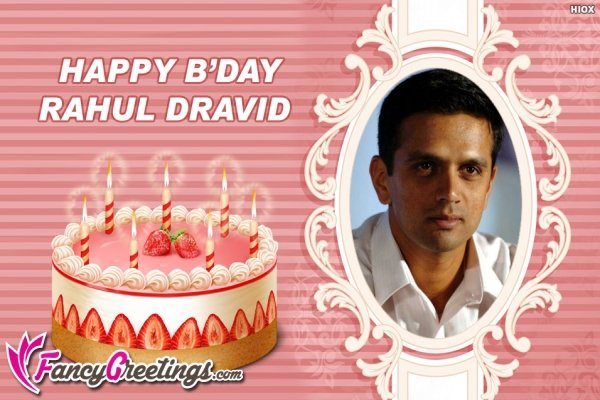 Happy birthday Rahul Dravid sir & best of luck for u-19 world cup.