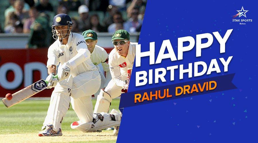 Happy Birthday to my favourite Cricketer Rahul Dravid Sir