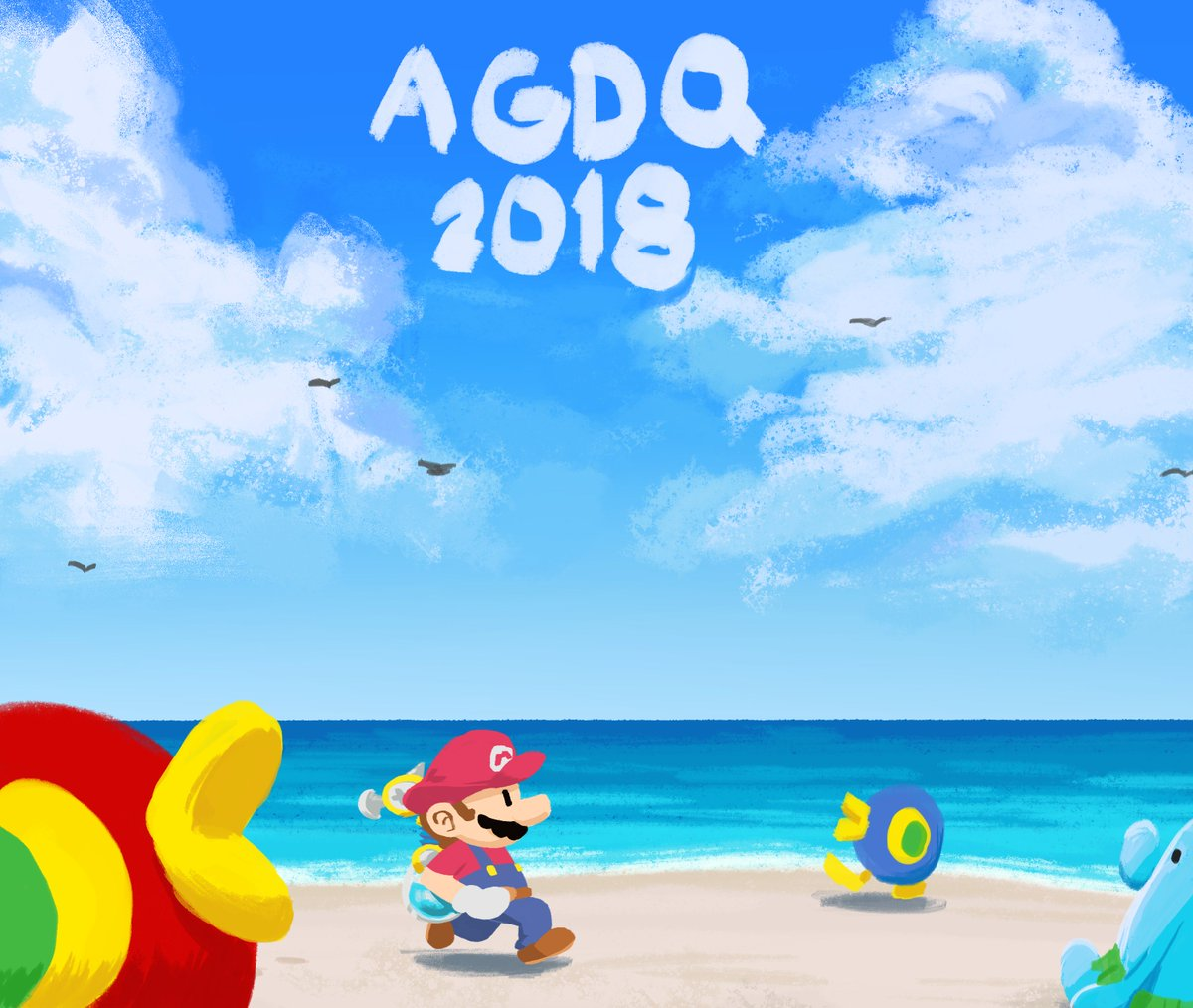 RT @ChipsGoWOAH: #AGDQ2018 Super Mario Sunshine https://t.co/x9LmXe3GCB