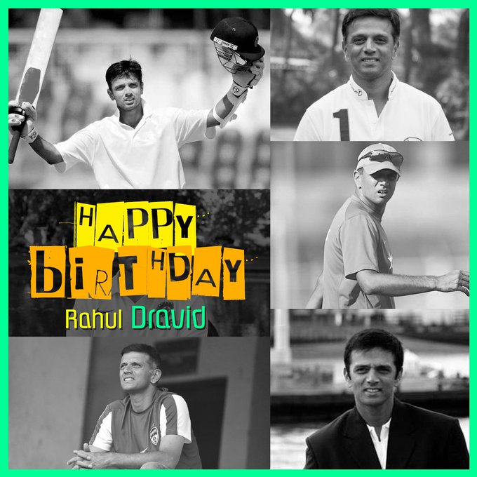 Wishing The Wall Of Cricket Rahul Dravid A Very Happy Birthday