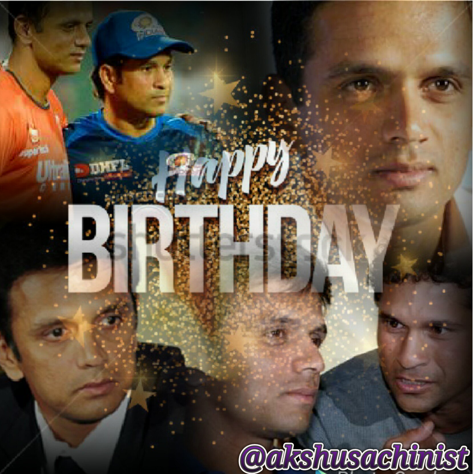 "Happy birthday to ""Wall of India\"" Rahul Dravid sir"