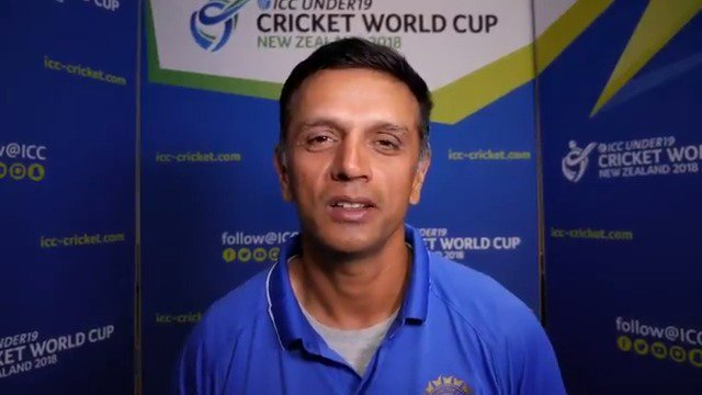 Ahead of the start of the #U19CWC, Rahul Dravid has a message for those supporting India at the @cricketworldcup. https://t.co/MXPaGSFiVp