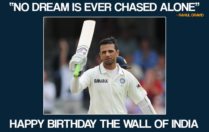 Former Indian cricketer Rahul Dravid turns 45 today. Let\s wish him a very Happy Birthday.