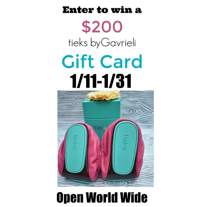 $200 GC to Tieks Shoes-1-WW-Ends 1/31