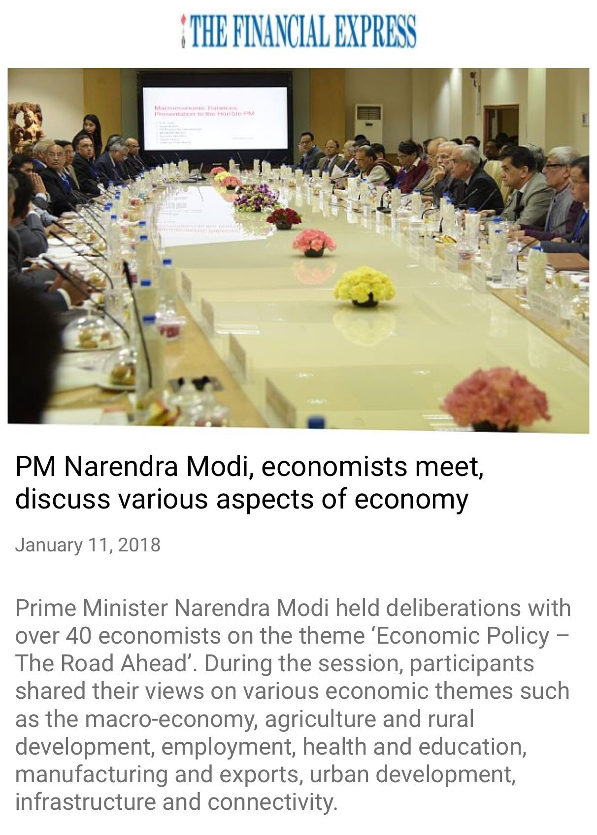 PM @narendramodi, economists meet, discuss various aspects of economy https://t.co/hQBnoZXodb  via NMApp https://t.co/xzMoTik7sj